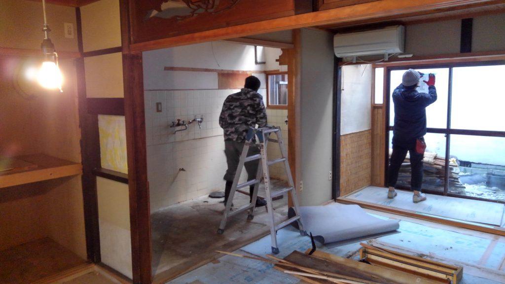 京都・北区の路地裏に新たに生まれるフレンチ料理店。 着工しております!;