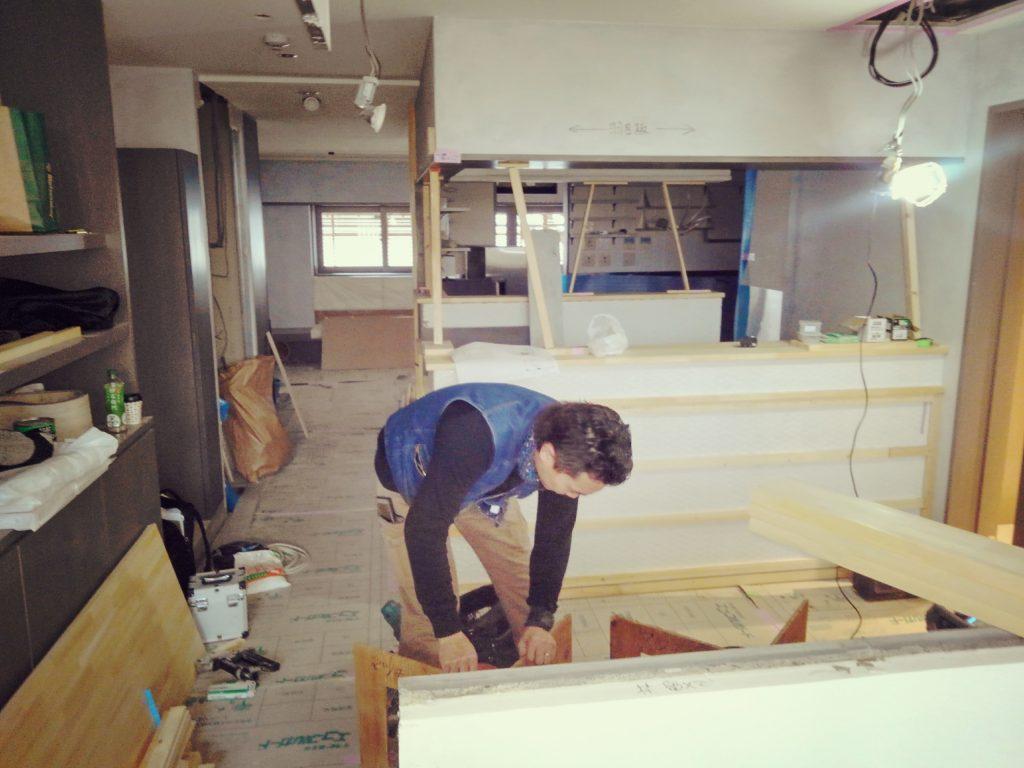 年の瀬に新たな施工スタートしました。京都御池エリアに新たに誕生するカレー屋さんです。;