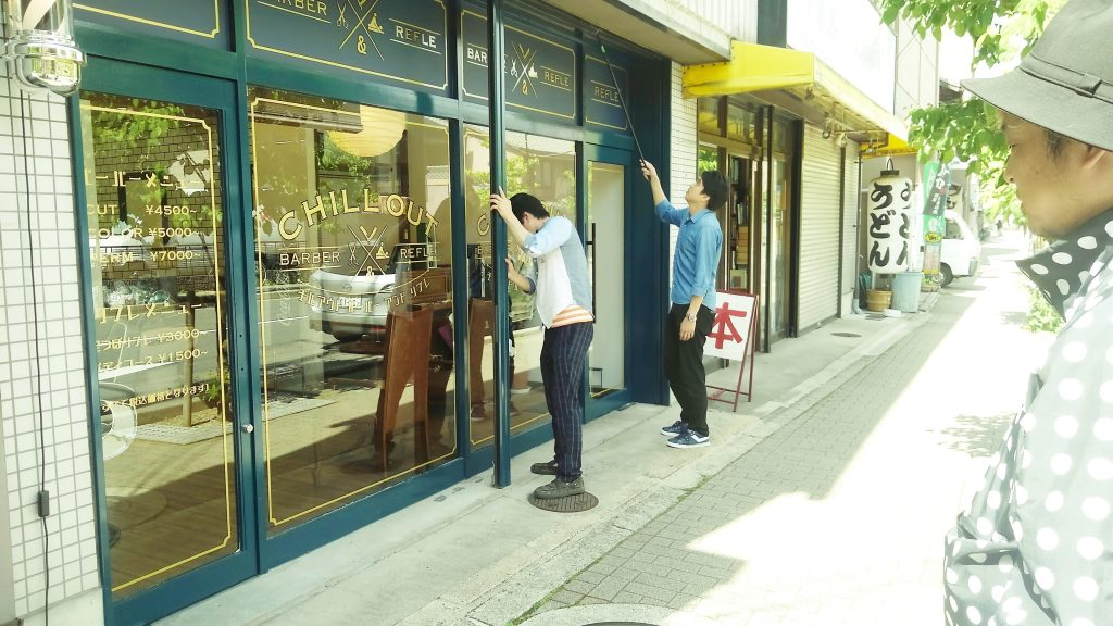 お引き渡し後の竣工写真撮影。お忙しい中ご協力いただいた各店舗様、ありがとうございました!;