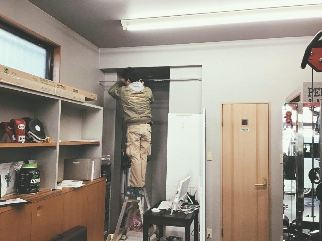 Personal Labo R様カーテンと暖簾掛けの取り付けです!;