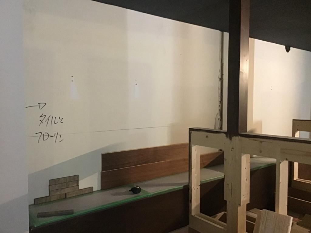 高槻焼肉店。仕上げ&装飾工事突入です。;