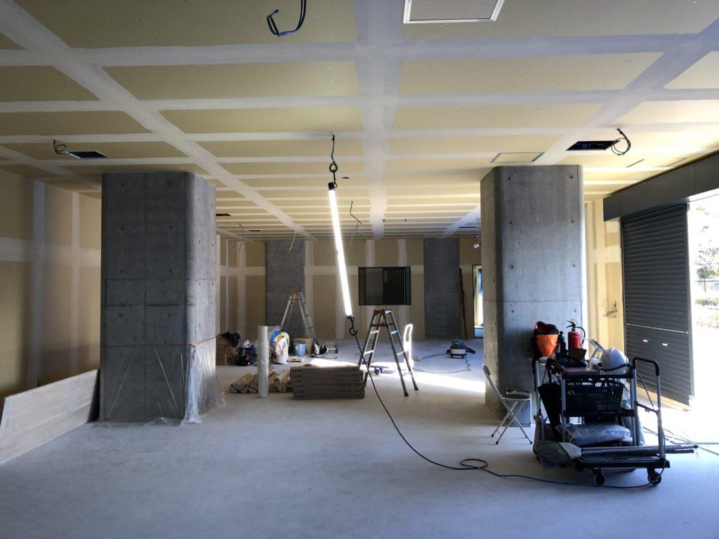 洛西口、卓球場も順調に工事が進んでおります。;