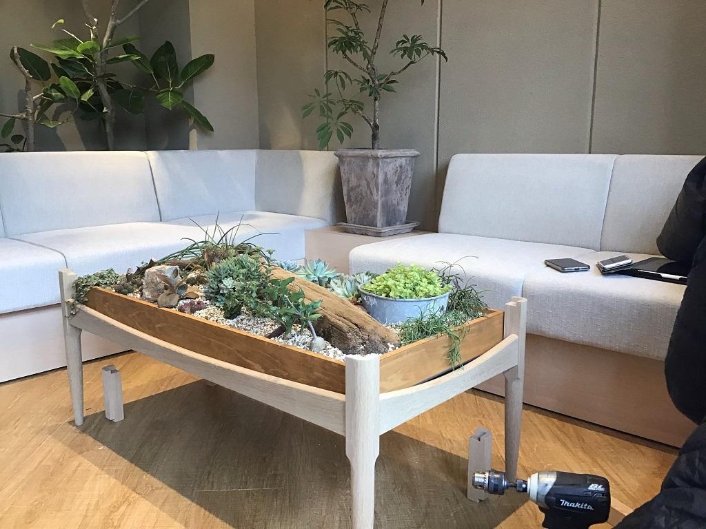京都mamori様、テーブル調整とインタビューのお伺い。;