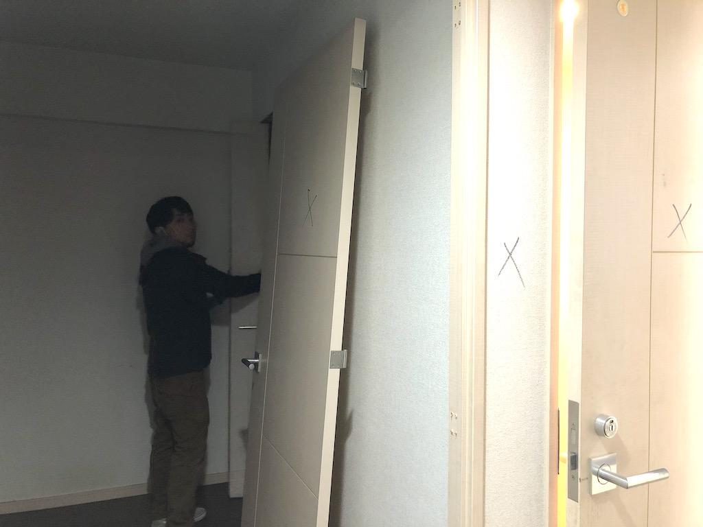 西大路にてマンションのリフォーム工事が着工しました;